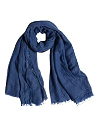 QBSM Women Large Soft Scarf Shawls Pashmina Solid Cotton Beach Cover Up Cloth