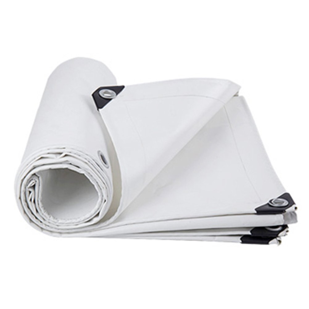WUFENG オーニング 厚い ナイフスクレーピング キャンバス 耐寒性 日焼け止め 耐摩耗性 うどんこ病 耐酸性と耐アルカリ性 高強度線 3つの布 屋外 厚さ0.45mm 550g/M2 (色 : 白, サイズ さいず : 5x6m) B07DFHWKC1 5x6m|白 白 5x6m