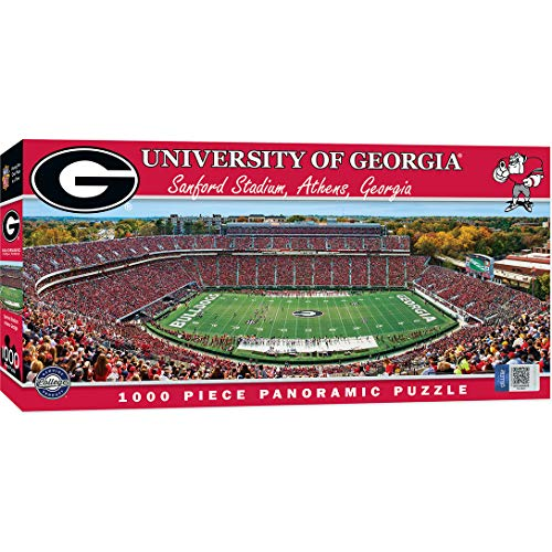 MasterPieces Collegiate Georgia Bulldogs 1000 Piece Stadium Panoramic Jigsaw Puzzle ()
