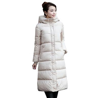 Amazon.com: Aileen88 Women Slim Full Length Long Hooded Warm ...