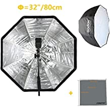 Fomito Godox Photo Studio 80cm/32in Portable Octagon Flash Speedlight Umbrella Softbox Soft Box Brolly Reflector