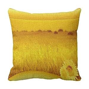 lettert Naturaleza sofá almohadas 16x 16amarillo naturaleza Manta de lino Monogram fundas de almohada
