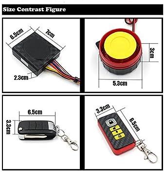 TR Turn Raise Sistema de Alarma Anti-Robo Alarma del Moto con Control Remoto Sirena 125dB para Suzuki, Yamaha, Honda, Kawasaki: Amazon.es: Coche y moto