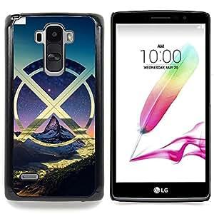 """X Montañas Nube"""" - Metal de aluminio y de plástico duro Caja del teléfono - Negro - LG G4 Stylus / G Stylo / LS770 H635 H630D H631 MS631 H635 H540 H630D H542"""