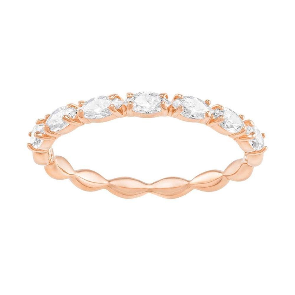 Swarovski Crystal Vittore Marquise Rose Gold-Plated Stackable Ring - Size 5.5