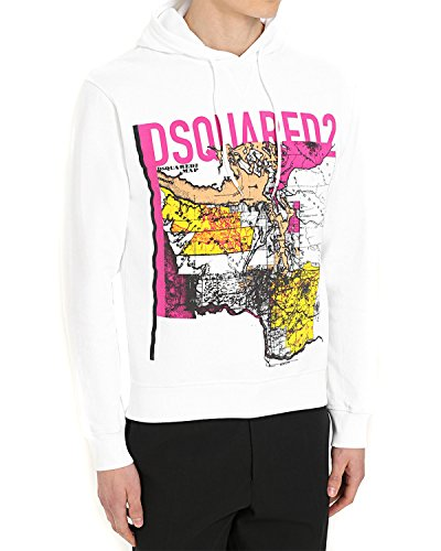 DSQUARED2 Men's Hoodie S74GU0219 - White, XXL (Dsquared2 Clothing Mens)