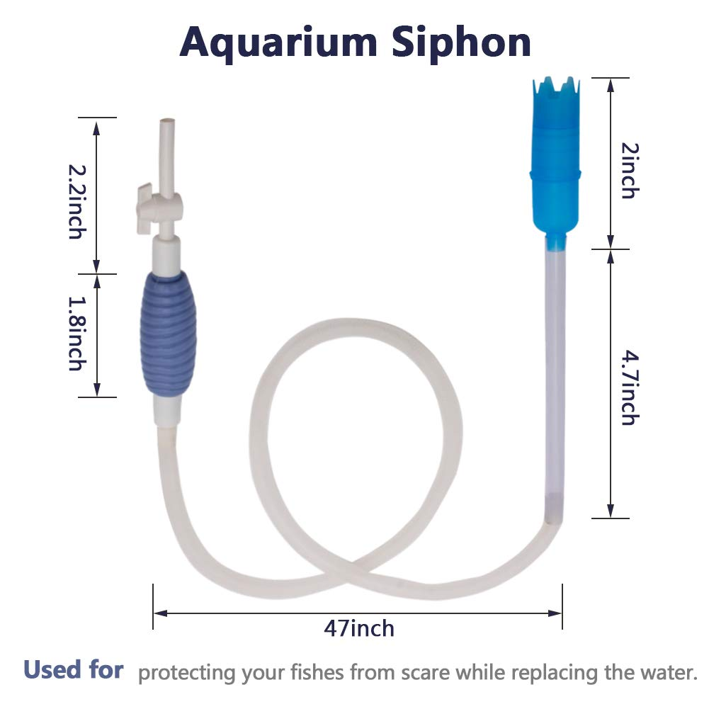Toopify Aquarium Fish Tank Clean Tools, 6 in 1 Adjustable Cleaning Kit & Fish Tank Gravel Cleaner Siphon for Water Changing and Sand Cleaner by Toopify (Image #4)