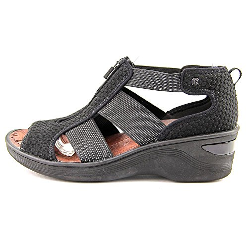 Bzees Duet Women Us 9 W Black Wedge Sandal
