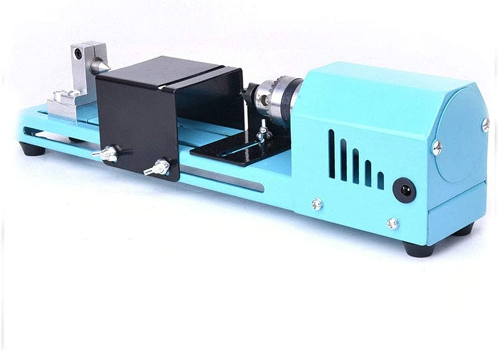 Bysoru 150W Mini Lathe Beads Polisher Machine DIY CNC Machining for Table Woodworking Wood DIY Tool