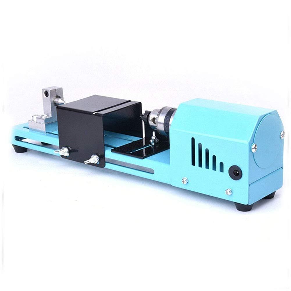 Sunnymal 150W Mini Lathe Beads Polisher Machine DIY CNC Machining for Table Woodworking Wood DIY Tool