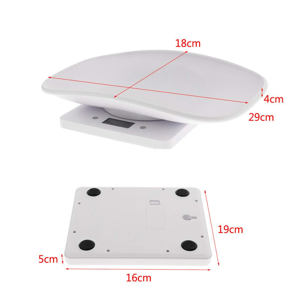 Digital Newborn Puppy Weighting Scale with Comfortable Curving Platform LCD Display 10KG Capacity