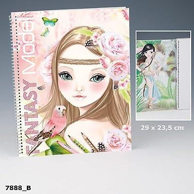 Topmodel Create Your Fantasy Model Malbuch Mit Sticker Und Malvorlagen Rosa Braun Auflage B