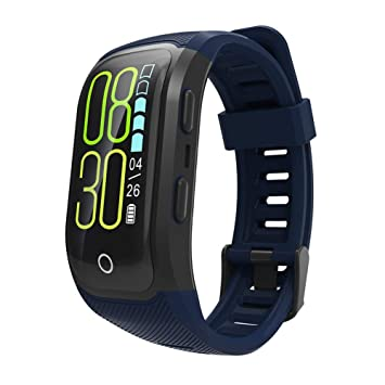 OOZIMO Fitness Smart Watch, IP68 Impermeable GPS Running Relojes con Pulsómetro Integrado Altímetro Etc para Aire Libre Aventurero, Color Azul: Amazon.es: ...