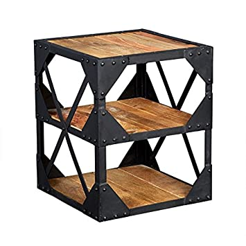 Amazon.com: Mesa de madera rústica de madera reciclada ...