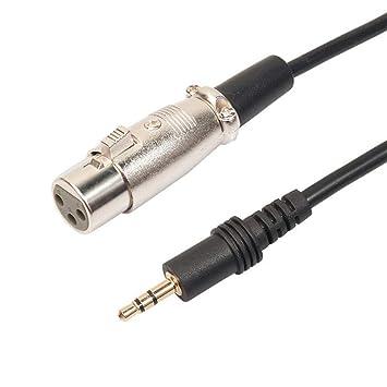 Voice Endstufe und Surround-Lautsprechern Handy WOB 3.5 Stecker auf XLR Busche Kabel,Hochwertige PVC und Kupfer f/ür die Verbindung mit PC Anschlie/ßen von Mikrofonen usw
