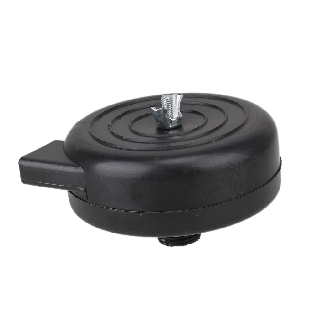Yibuy Air Compressor Intake Filter Silencer Black Plastic Housing Canister 19mm Dia