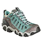 OBOZ Women's Sawtooth Low BDry Waterproof Hiking Shoes, Mineral Blue Green 6