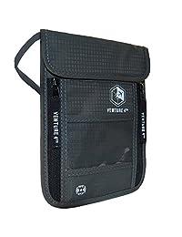 Venture 4th Travel Neck Pouch with RFID Blocking - Travel Wallet Passport Holder (Grey)