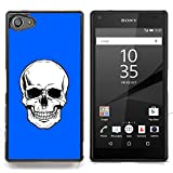 STPlus Skull Death Skeleton Hard Cover Case for Sony Xperia Z5 Compact (Royal blue)