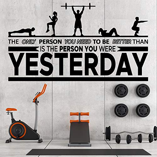 Motivational Inspirational Gym Wall Decals product image