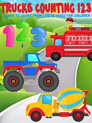 Trucks Counting 123 - Learn To Count from 1 to 10 Video For Children