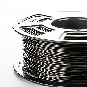 3DDPLUS 1.75mm PLA 3D Printer Filament BLACK- 1kg Spool (2.2 lbs) - Dimensional Accuracy +/- 0.03mm by Stronghero3D
