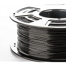 3DDPLUS 1.75mm PLA 3D Printer Filament BLACK- 1kg Spool (2.2 lbs) - Dimensional Accuracy +/- 0.03mm