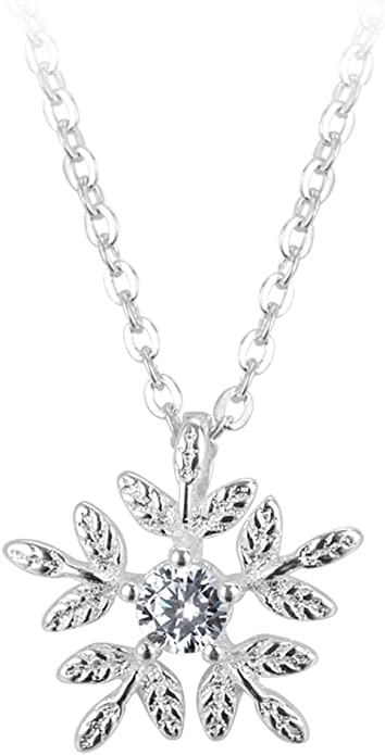 Helen de Lete Snow Flakes Sterling Silver Necklace