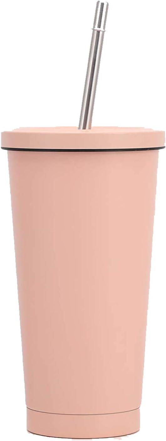 Suler Taza de Termos, Individualidad y Creatividad Taza de café aislada al vacío Taza de Viaje de Doble Pared Frasco de vacío para Acampar con Pajita y Tapa 17oz / 500ML