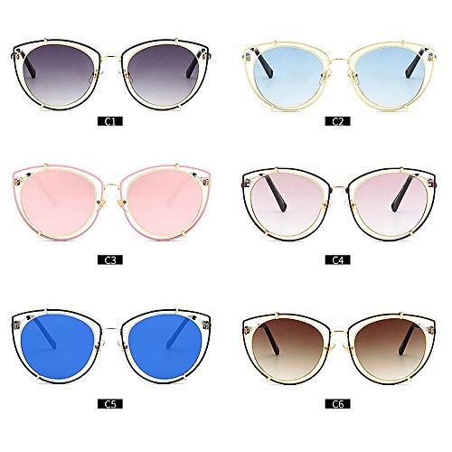 Playa Aire Color la de del la de Libre al del Diseño Ojo Mujeres Las del Huecas Sol C6 para Vacaciones C5 para de de Protección Gato Conducción Ultravioleta Gafas FqUSv