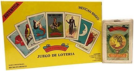 Don Clemente Juego Loteria Mexicana y Naipe Incluye Bingo Mexicano y baraja Espanola.: Amazon.es: Deportes y aire libre