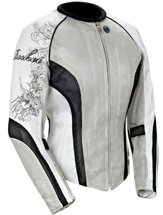 JOE ROCKET LADIES MOTORCYCLE JACKET silver/black/white