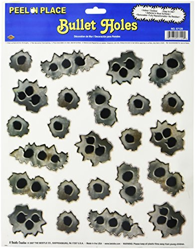 Bullet Holes Peel 'N Place Party Accessory (1 count) (24/Sh) ()