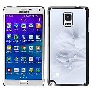 YiPhone /// Prima de resorte delgada de la cubierta del caso de Shell Armor - Petals Snowdrop Petal Shadow Subtle - Samsung Galaxy Note 4 SM-N910