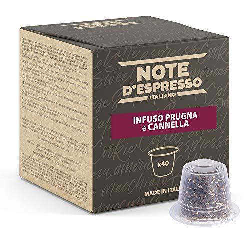 Note d'Espresso - Ciruela y Canela - Cápsulas de Tisana compatibles con Cafeteras NESPRESSO* - 40 caps