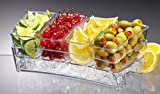 Prodyne SB-6 Condiment Bar On Ice, Clear