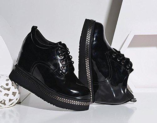 Los Suela Dentro Black Aumento Una Salvaje Ocasionales Las Del Primavera Nuevos Mujeres Gruesa Con De Zapatos rnZnt4x