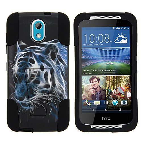 Htc Cell Phone Cases (HTC Desire 526G Phone Cover, Armor Cover STRIKE Impact Built In Kickstand Case with Customized Designs for HTC Desire 526G (Verizon) by MINITURTLE - White Tiger)