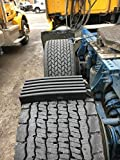 TRACGRABBER Trac-Grabber – Snow, Mud & Sand Tire Traction Device for Wide Track or Super Single Trucks – Set of 2 – A Chain/Snow Tire Alternative – Easy Install Blocks Strap to Your Vehicle Tires
