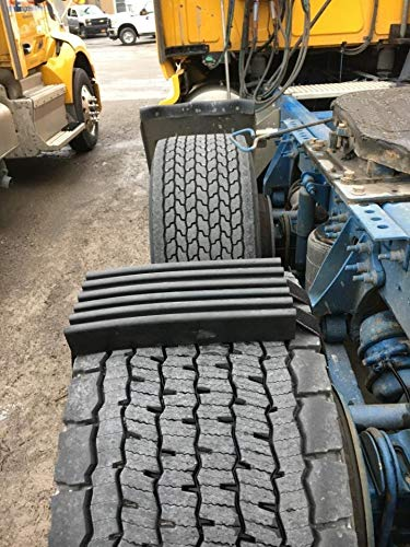 TRACGRABBER Trac-Grabber – Snow, Mud & Sand Tire Traction Device for Wide Track or Super Single Trucks – Set of 2 – A Chain/Snow Tire Alternative – Easy Install Blocks Strap to Your Vehicle Tires ()