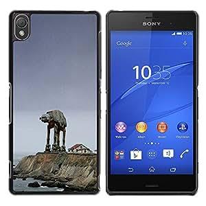 Starwars Mech - Metal de aluminio y de plástico duro Caja del teléfono - Negro - Sony Xperia Z3