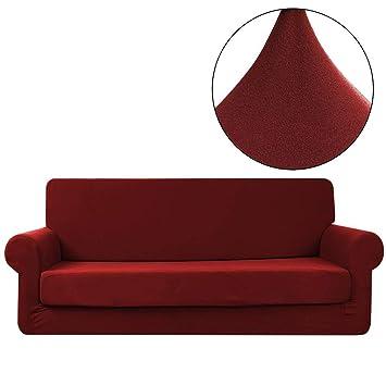 IrahdBowen sofá Funda Impermeable de Seda plástico Elastic Digging All Inclusive de plástico Funda de sofá Resistente al Polvo y ensuciará, c, ...
