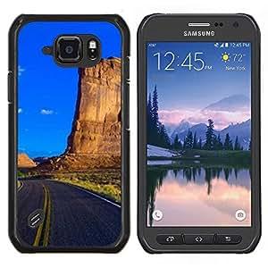 Caucho caso de Shell duro de la cubierta de accesorios de protección BY RAYDREAMMM - Samsung Galaxy S6Active Active G890A - Sunset Beautiful Nature 69