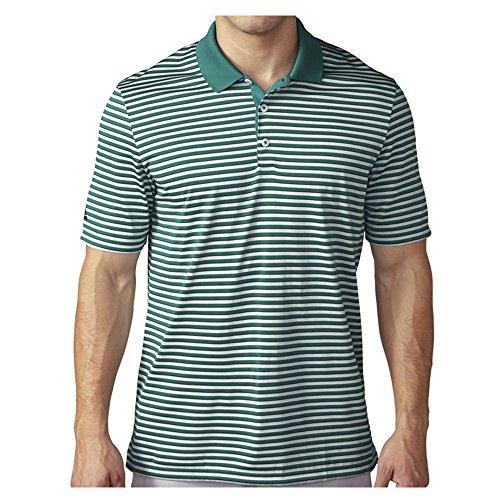 adidas Golf Men's Golf Performance 3-Color Stripe Polo Shirt, EQT Green/Clear Grey/Black, XX-Large