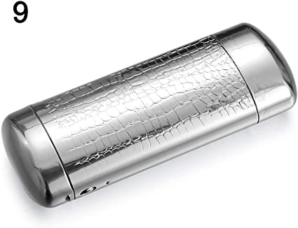 Amazon.es: Estuche de funda gafas unisex 1pcs Superior de aluminio caja de vidrios de metal duro Cápsula Unión superior de los vidrios caja del sostenedor de la caja de las lentes for