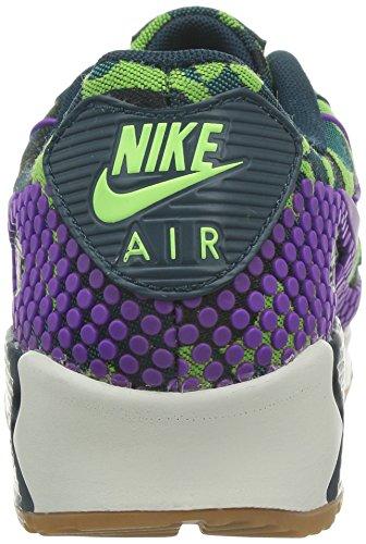 Nike Vrouwen Wmns Air Max 90 Jcrd Prm, Blauwgroen / Levendige Paars-mid Tl-spook Groen, 6 M Ons
