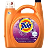 Tide Plus 3700087562 Febreze Freshness Spring And Renewal Scent HE Turbo Clean Liquid Laundry Detergent, 89 Loads 138 oz