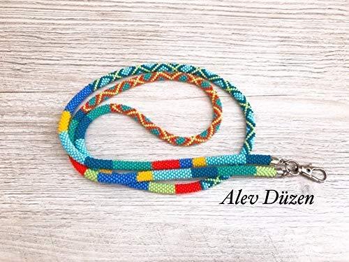Lanyard necklace Beaded Lanyard Accessory Teacher Lanyard Teacher Gift Clay Lanyard Lanyard with ID holder Cheetah Lanyard