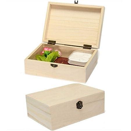 Oudive Cajas de casilleros, Cajas de Madera Natural, Cajas ...