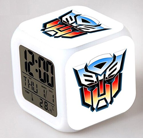 Enjoy Life : Cute Digital Multifunctional Alarm Clock With Glowing Led Lights and Transformers sticker, Good Gift For Your Kids, Comes With Bonuses (03) by EnjoyLife Inc
